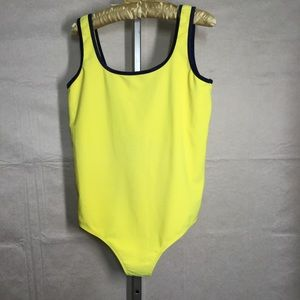 Thyme Sport , Yellow One piece Swimsuit  Size  LG